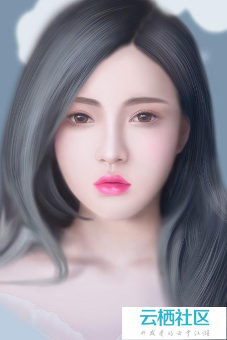 PS临摹漂亮的女神头像-临摹字帖 漂亮